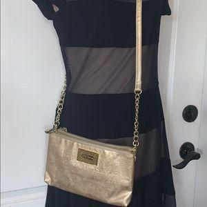 EUC Betsy Johnson gold crossbody bag